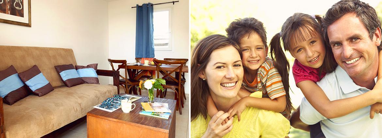 Résidence Les Terrasses de Pentrez - appartement - séjour avec canapé lit